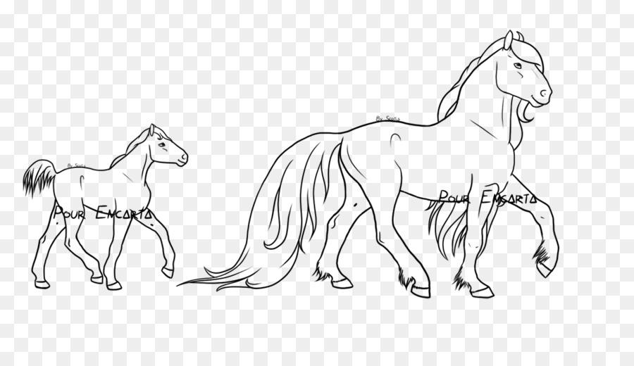 Pony Caballo de la Línea de arte, Dibujo para Colorear libro ...
