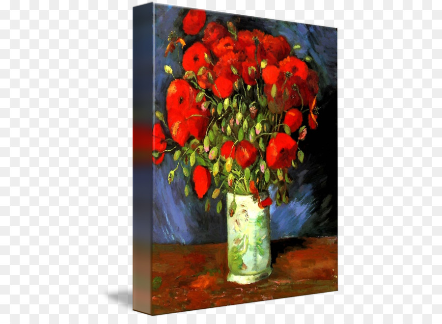 Vase with red poppies painting art impressionism drawing vincent vase with red poppies painting art impressionism drawing vincent van gogh mightylinksfo