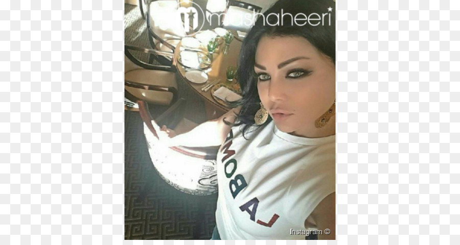 Singer haifa wehbe on stage during the big apple music awards.