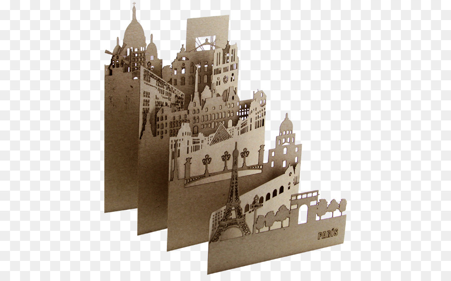 Papercutting Paris Art Paper Craft City Landscape Png Download