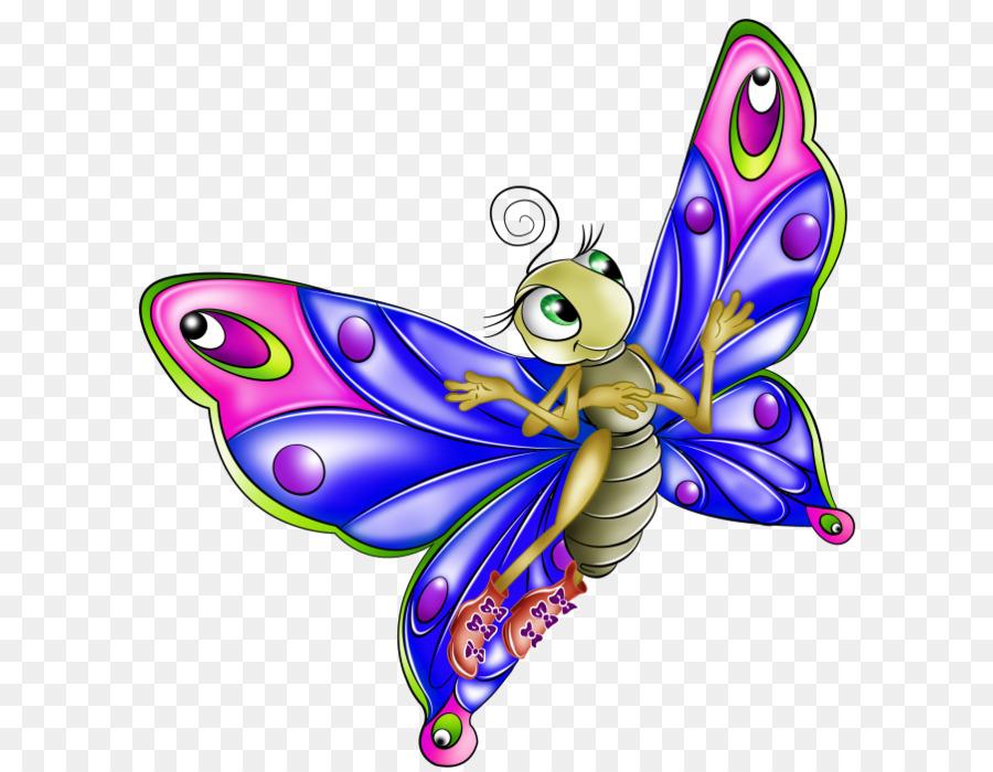 schmetterling insekt cartoonanimation clipart