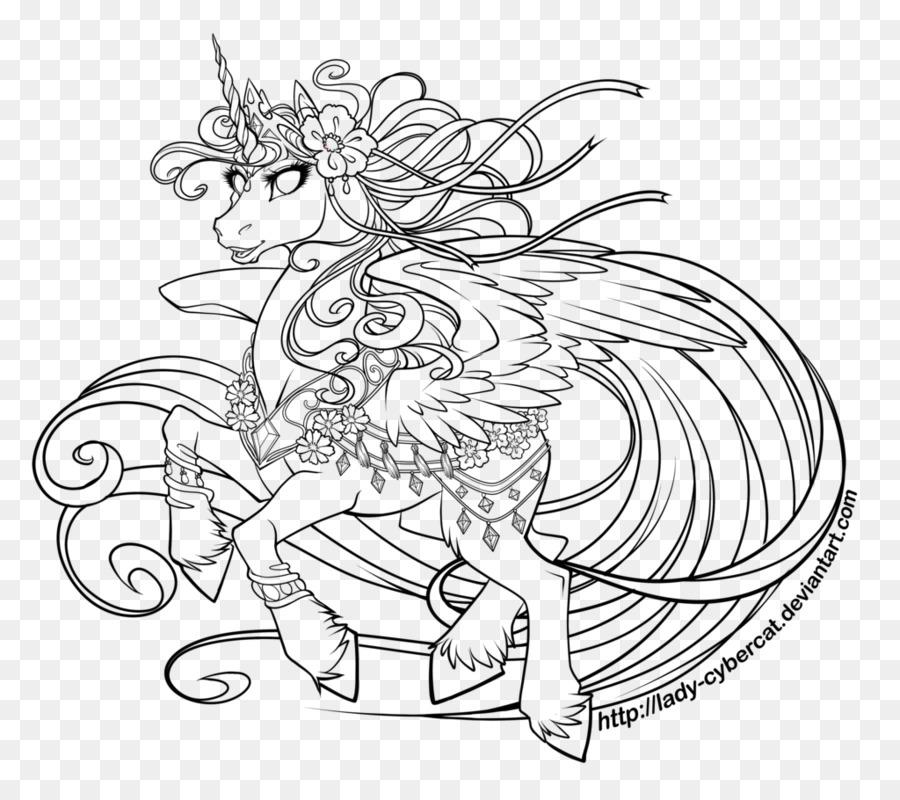 Arte de línea Princesa Celestia Dibujo, arte Digital - La princesa ...