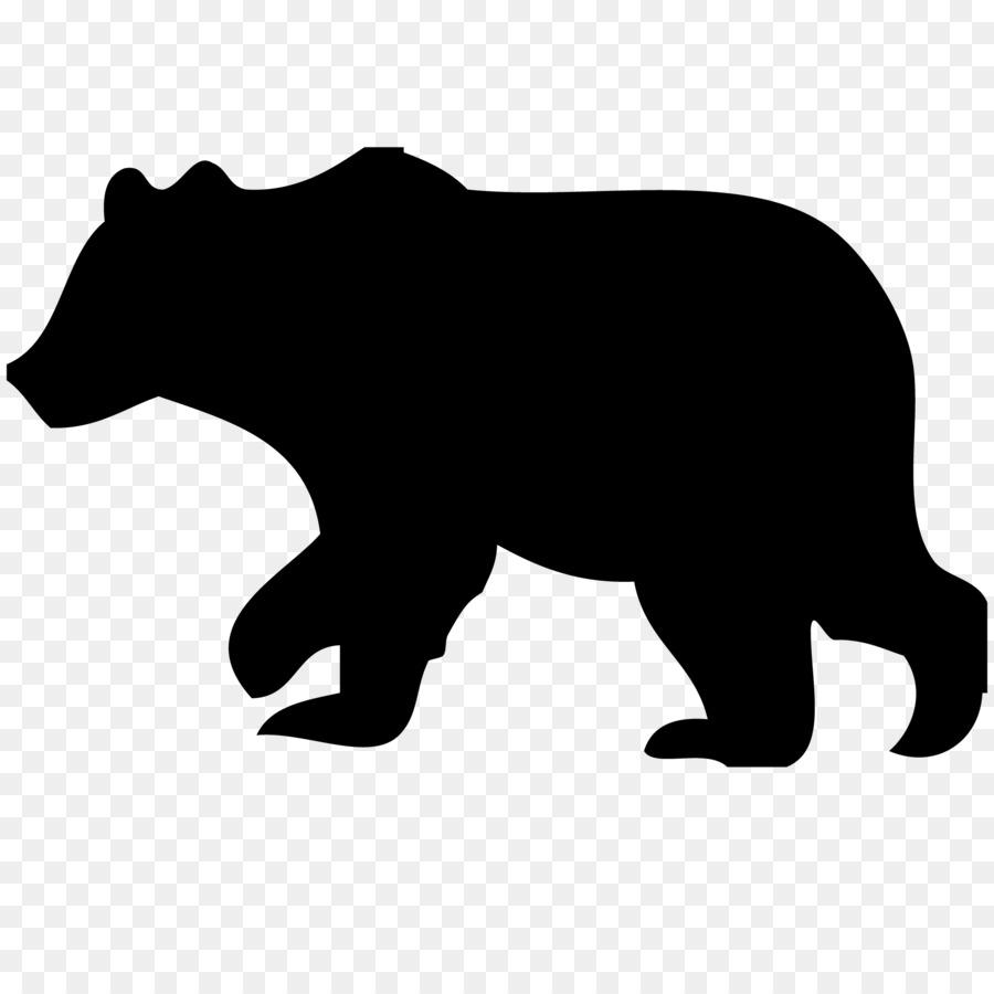 american black bear polar bear silhouette clip art bear png rh kisspng com black bear clipart black and white black bear clip art pictures