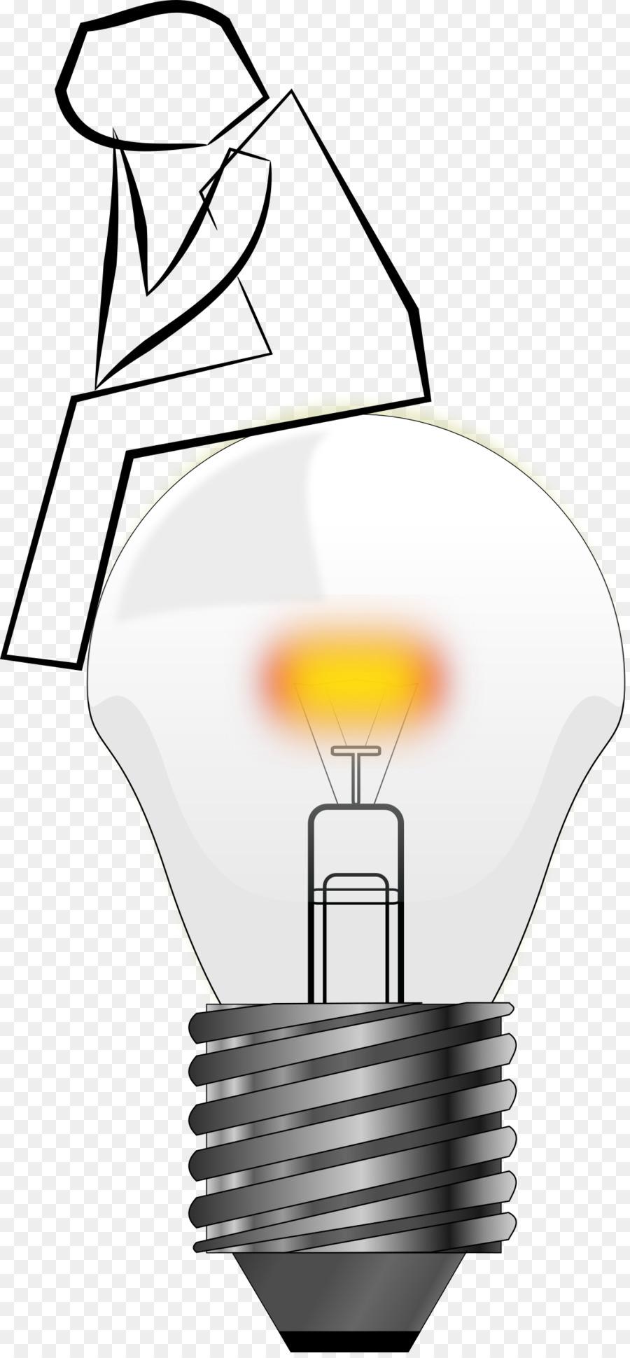 Incandescent Light Bulb Lamp Electric Clip Art