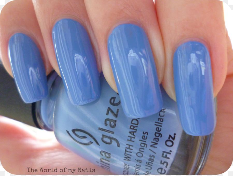 Nail Polish China Glaze Nail Lacquer Blue - nail polish png download ...