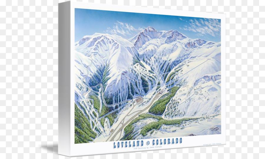 Loveland Ski Area Gallery wrap Ski resort Picture Frames Canvas ...