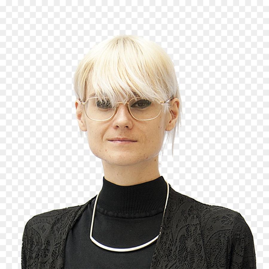 Brille Blonde Haare Pony Schutzbrillen Brille Png Herunterladen