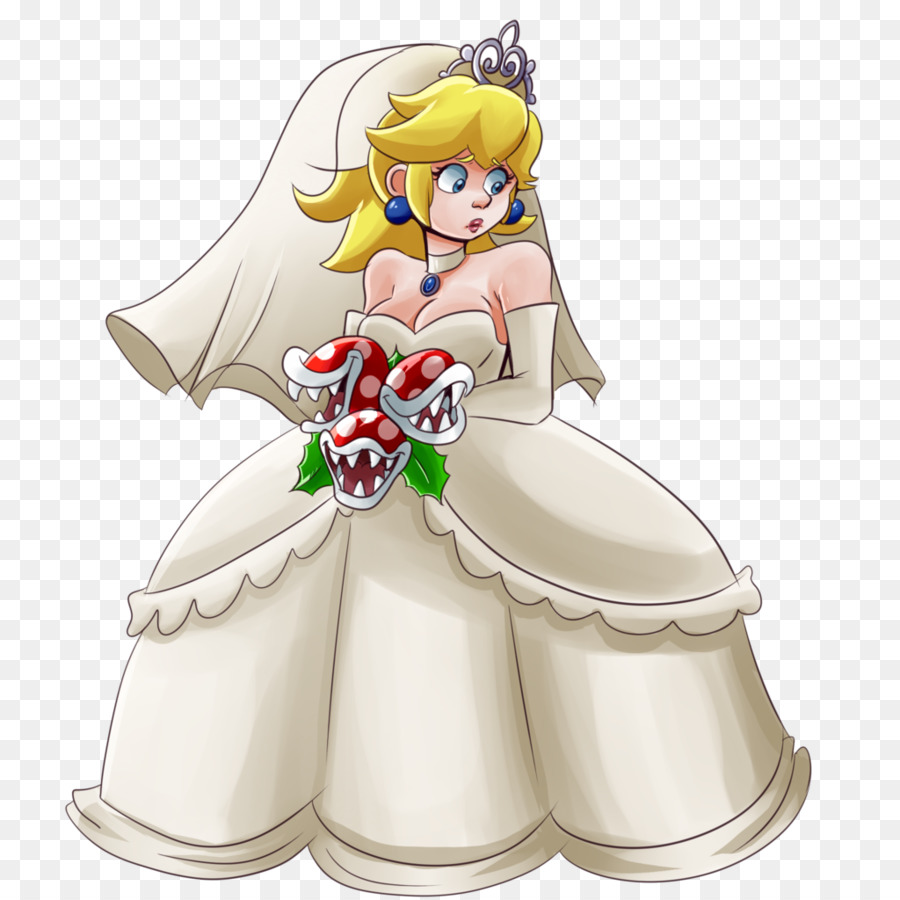 Super Princess Peach Super Mario Odyssey Piranha Plant Wedding Dress