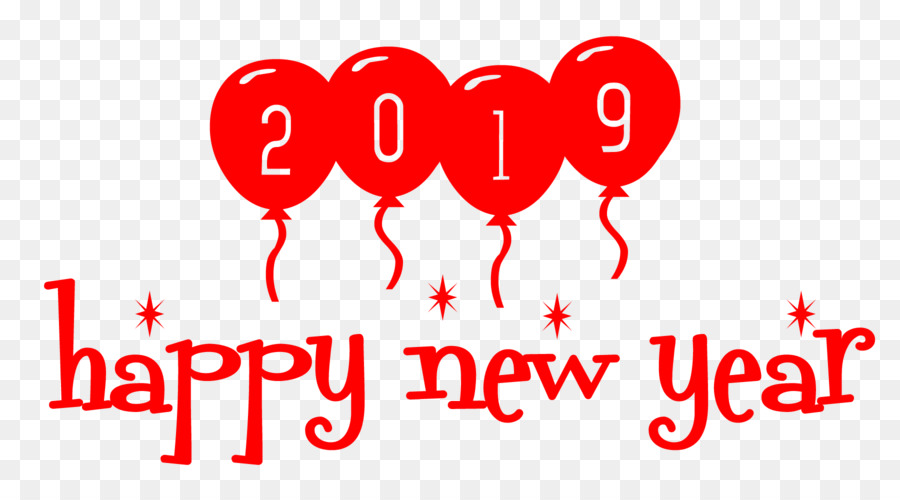 2019 Happy New Year - ballon - New Year 2019 png download - 1800 ...