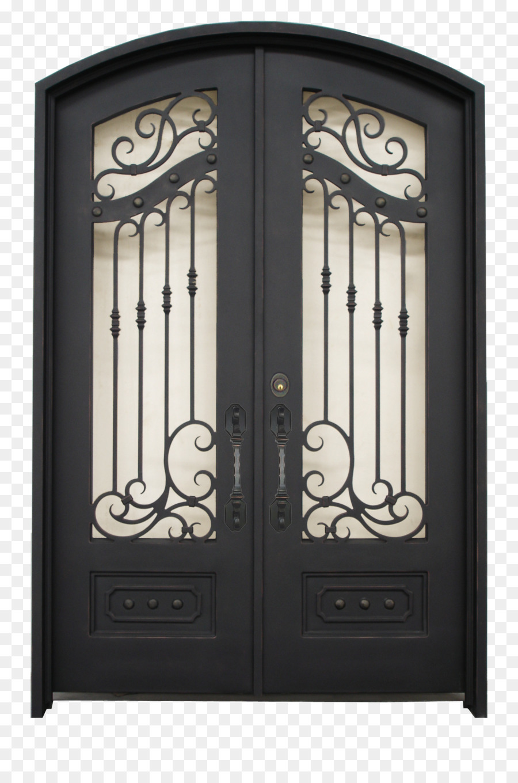 Sliding Glass Door Window Transom Iron Door Png Download 1728