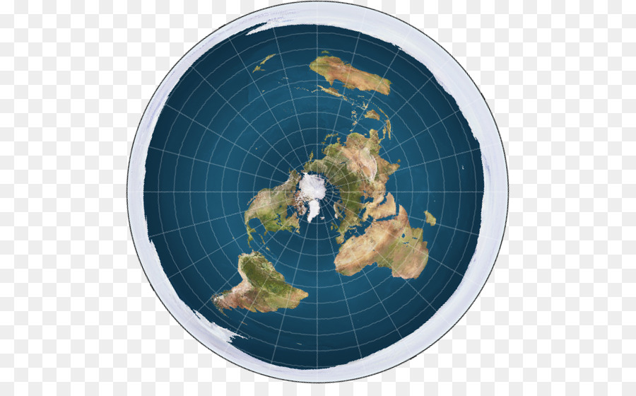 Flat Earth North Pole World Map Globe Earth Png Download 543 543