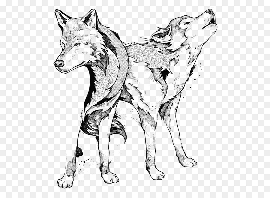 Lobo gris de la Línea de arte Maníaco Botánico: Zifflin del Libro ...