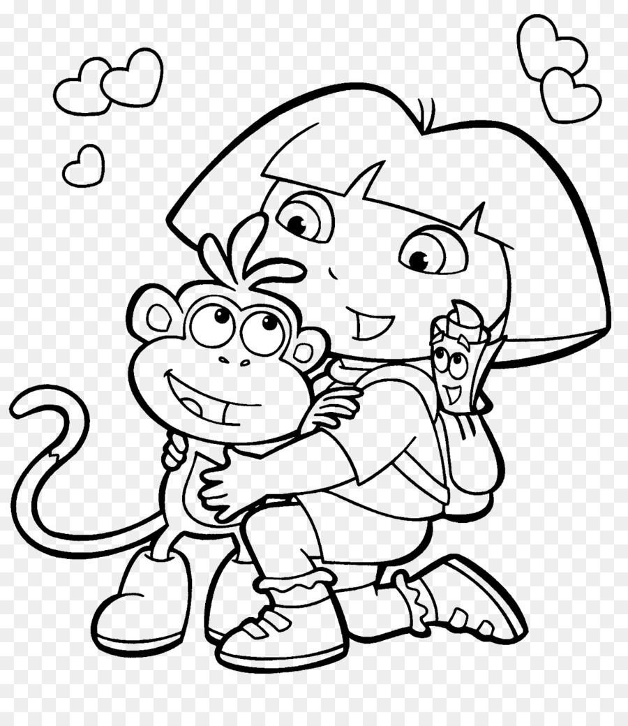 Colouring Pages Coloring book Drawing Princess Dora Child - child ...