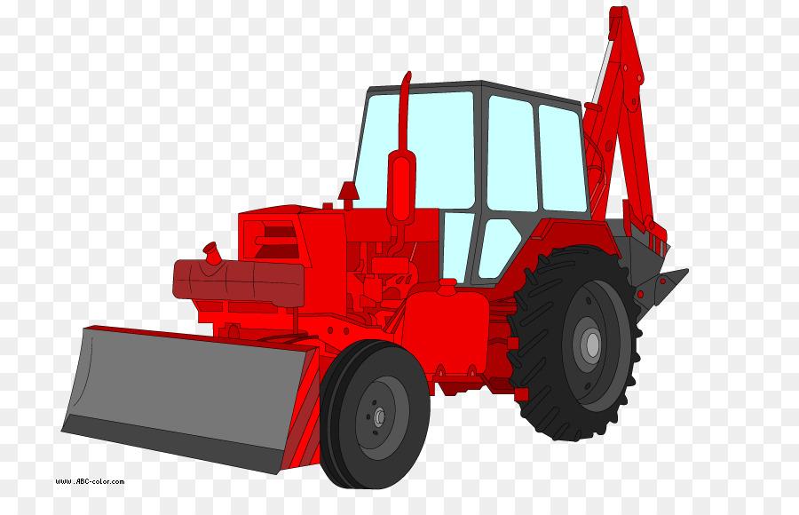 Traktor Excavator Menggambar Mewarnai Buku Clip Art Traktor