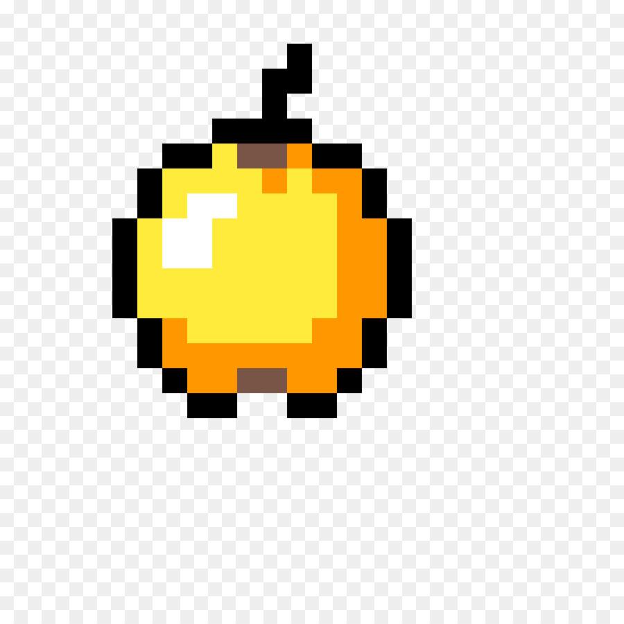Minecraft Golden apple Pixel art Item Video Games - minecraft heart ...