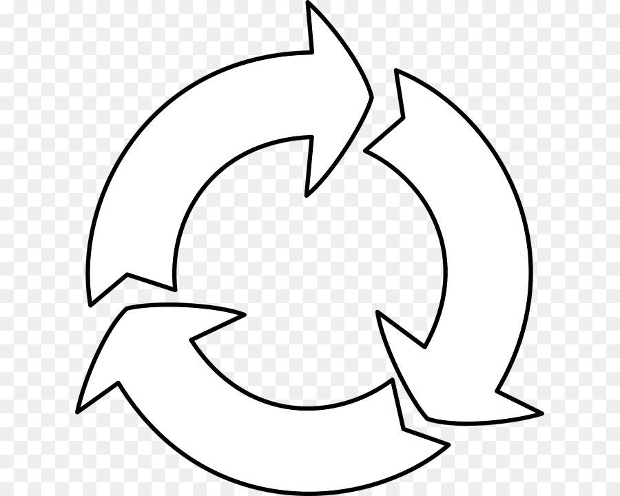 o símbolo de reciclagem livro de colorir de reciclagem reutilização