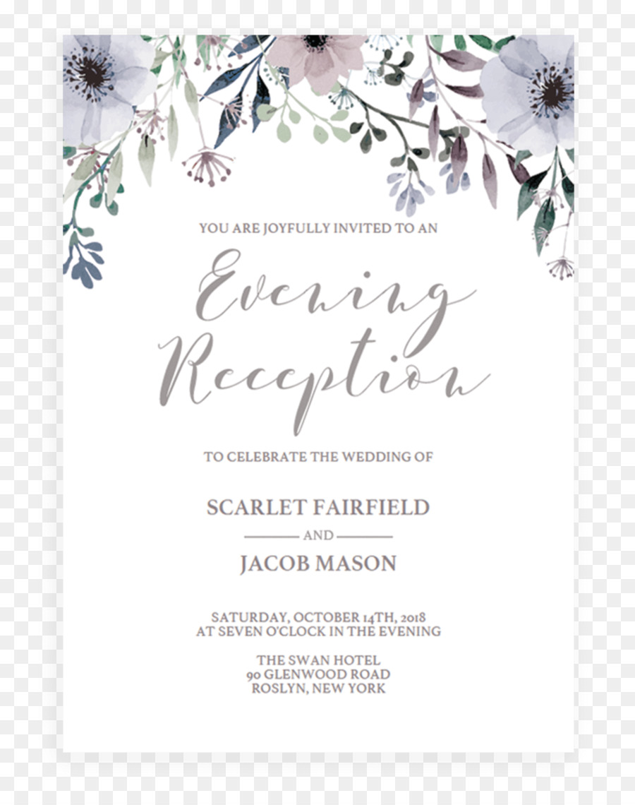 Wedding invitation Bridal shower Paper Convite - Wedding Invitation ...