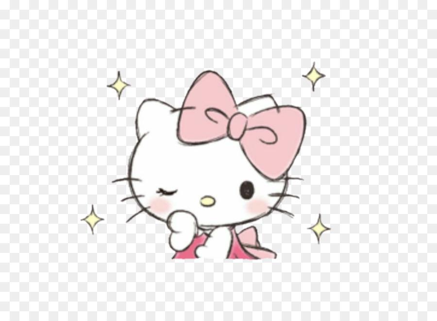 Gambar Kartun Hello Kitty Pink