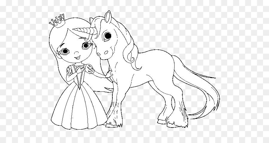 Libro para colorear de La Princesa y el Unicornio de Hadas para ...