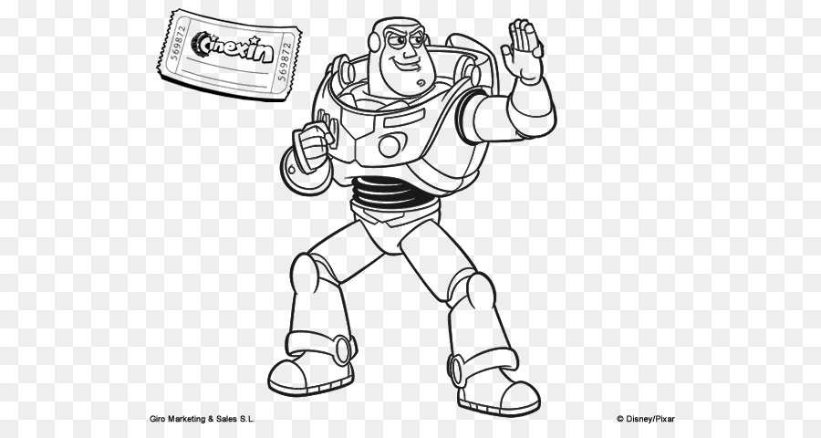 Buzz Lightyear Line art Drawing Coloring book Image - painting png ...