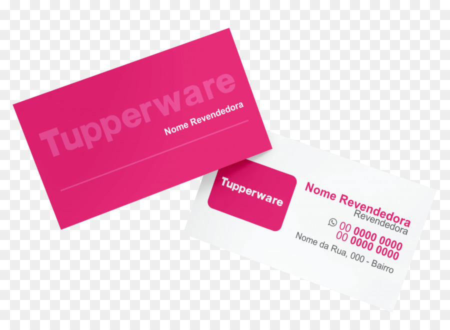 product design logo business cards brand design - Tupperware Business Cards