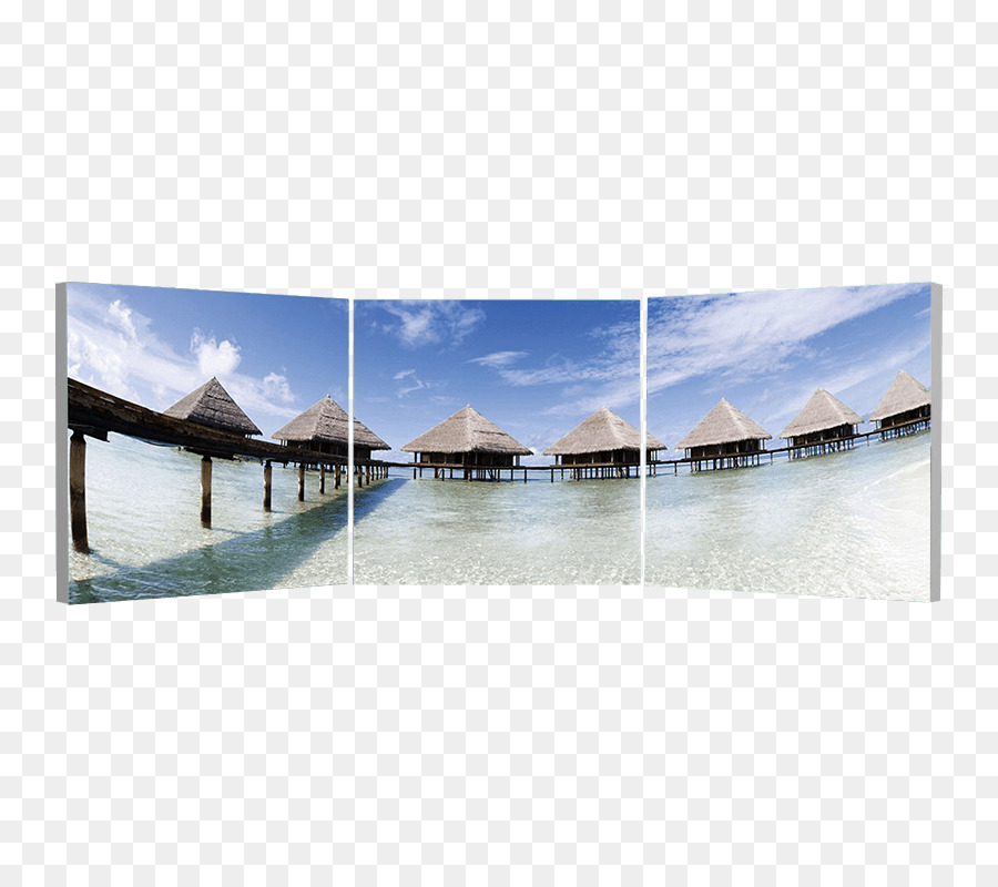 Photography Triptych Canvas Picture Frames - maldives png download ...