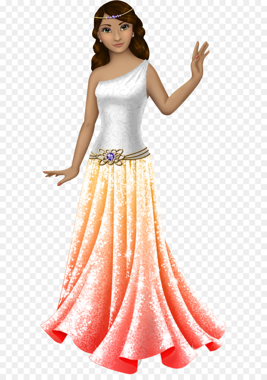 Gown Paper doll Dress Clothing - Flowing dress png download - 630 ...