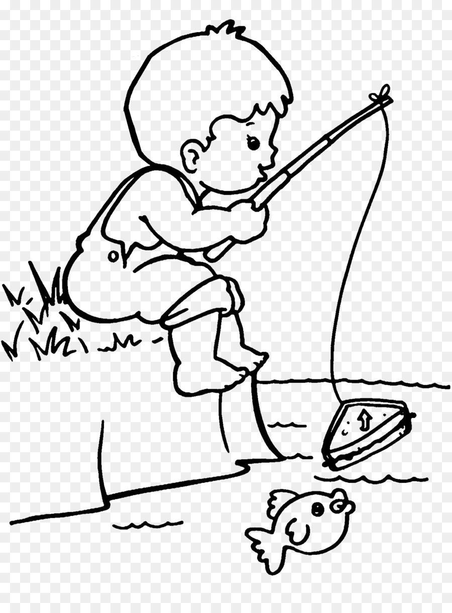 Páginas para colorear para Colorear libro Pescador Dibujo de la ...
