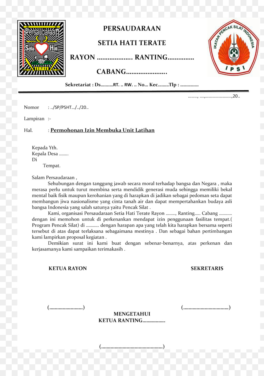 Letter Indonesian Language Surat Document Wedding Invitation Psht