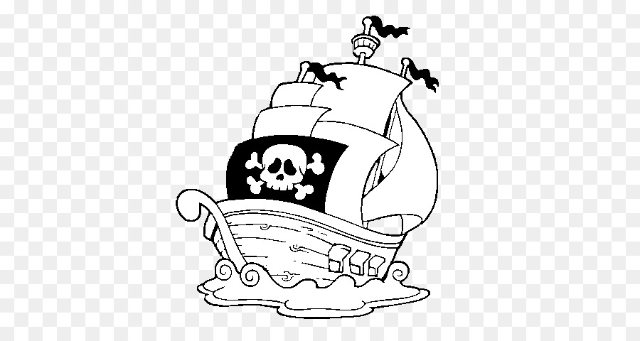 Pirate Coloring book Boat Drawing Ship - pirate png download - 600 ...