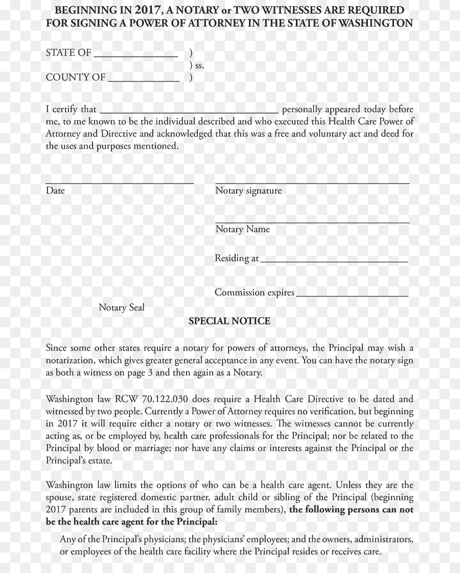 Document Power Of Attorney Notary Template Form Power Of Attorney