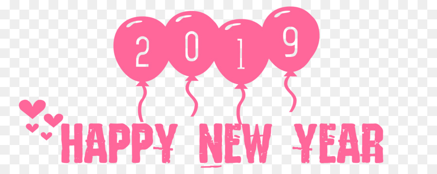 2019 Happy New Year Ballon Heart Lovepng Others Png
