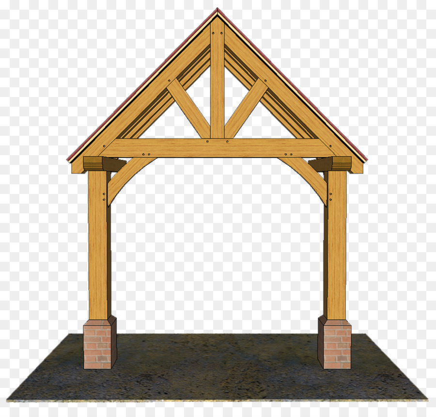 Gable roof Porch Facade - house png download - 942*881 - Free ...
