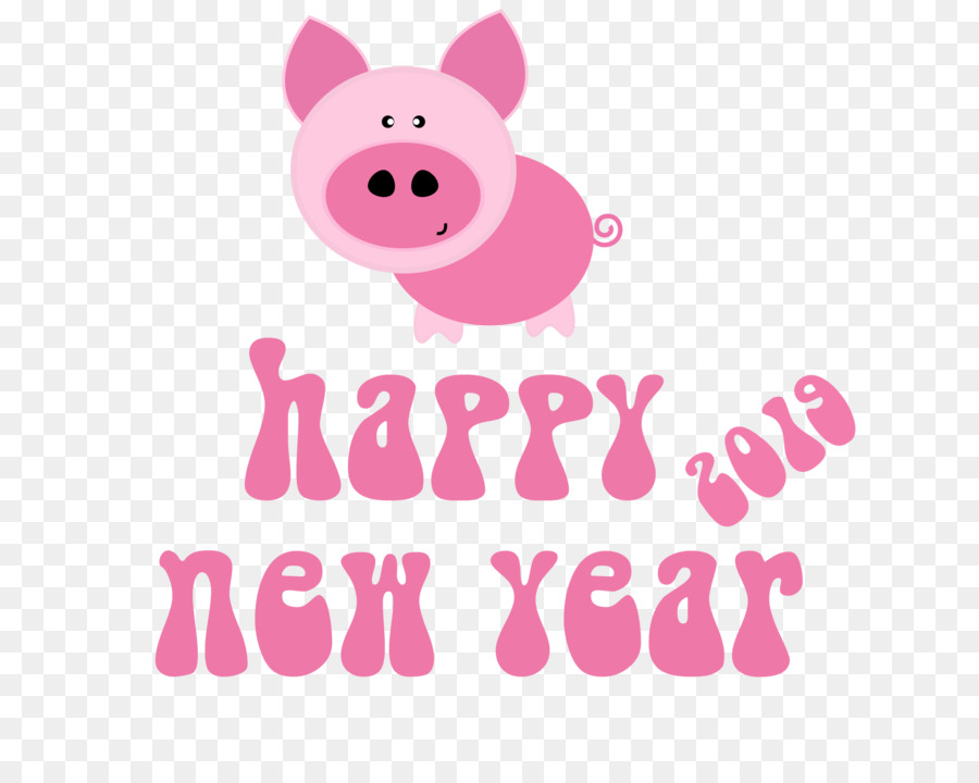 Happy New Year 2019 Cute Pink Pig Png Others Png Download 2000