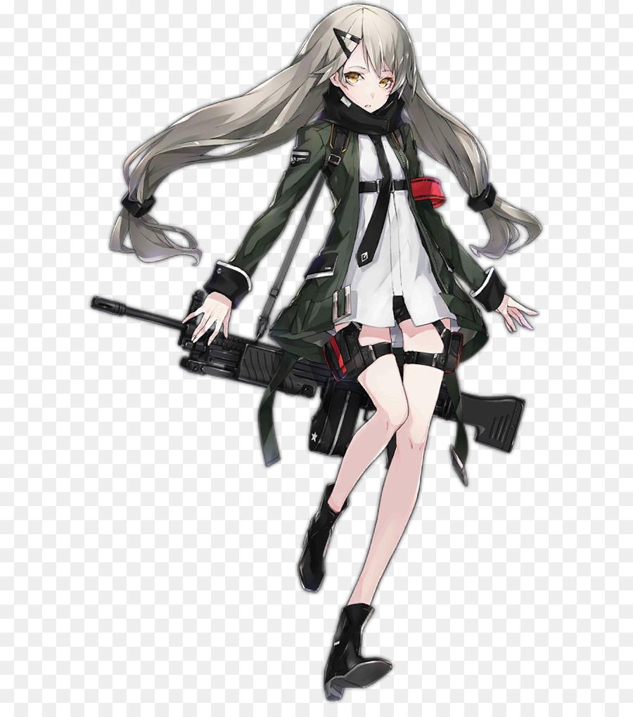 Girls' Frontline Canities Hair Grey Heckler & Koch MG4