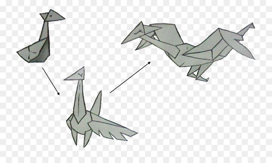 Origami Marine Mammal Paper Cartoon Design Design Png Download