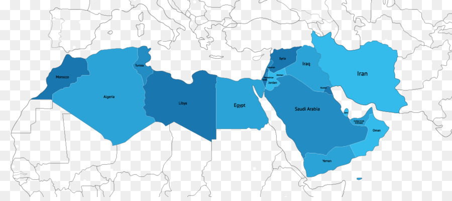 MENA Middle East North Africa World Map   Middle East Map