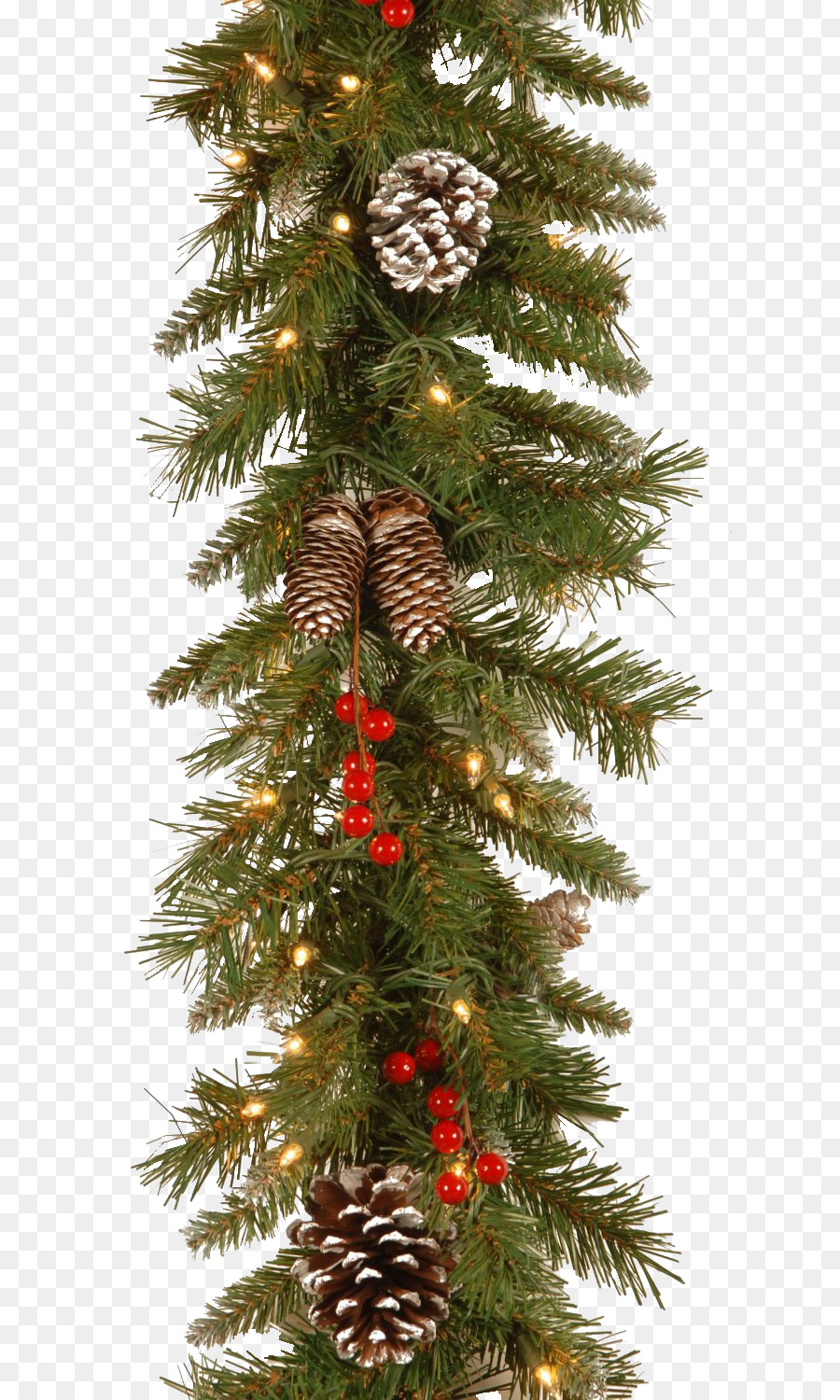 Christmas Tree Light Garland Decoration Spruce Png
