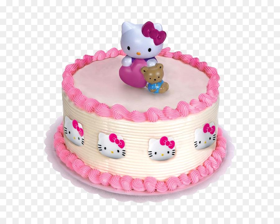 Hello Kitty Cupcake Frosting Icing Birthday Cake