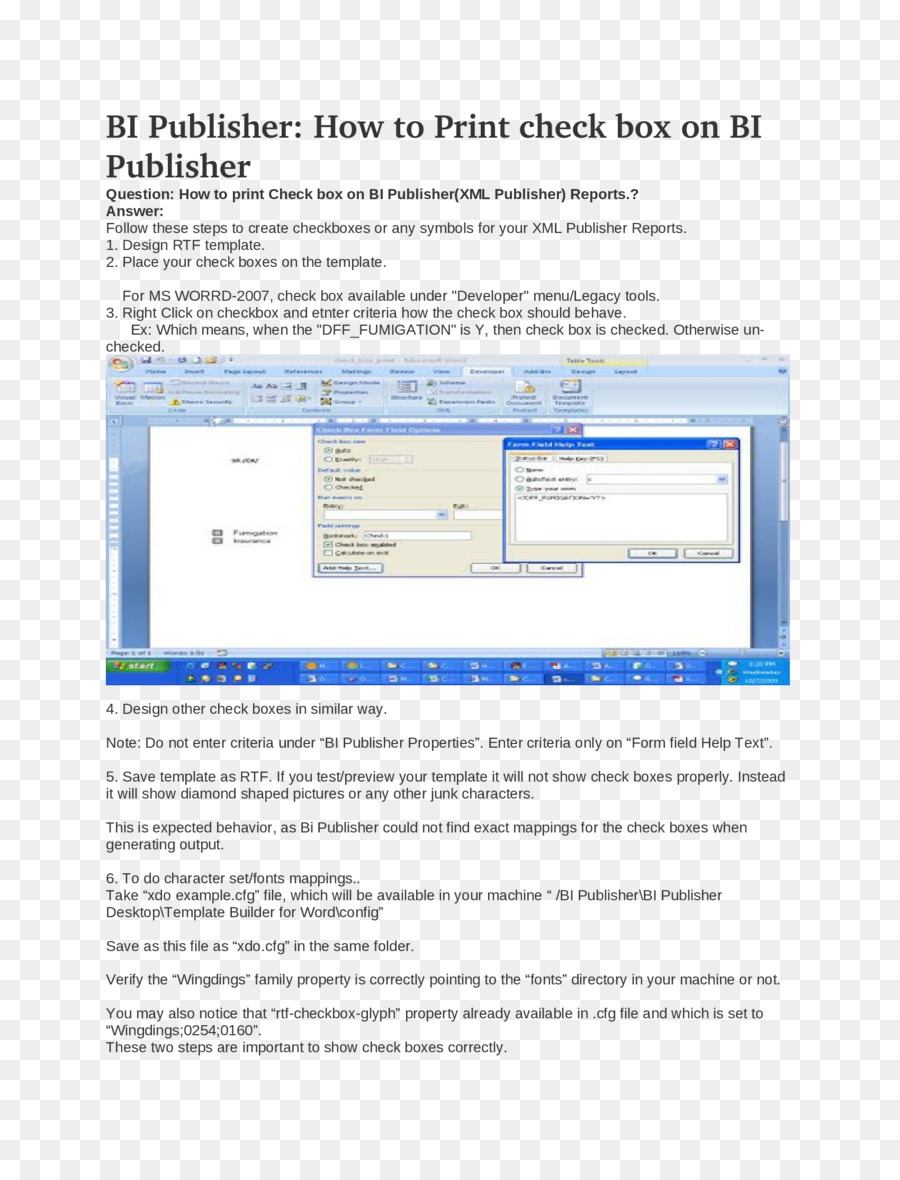 Plantilla de Microsoft Word Resumen de Oracle BI Publisher de ...