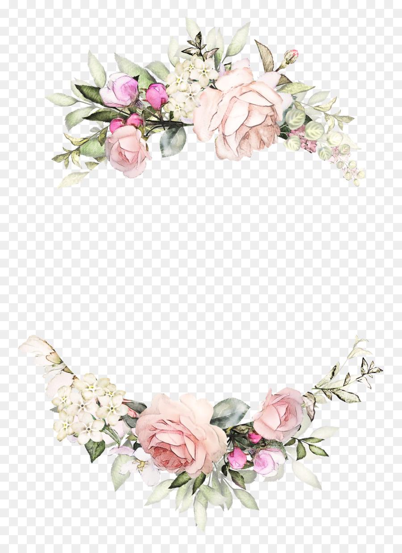 Hochzeitseinladung Rose Kranz Papier Floral Design Vintage