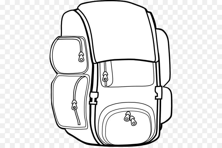 Coloring Book Backpack Designs For Simple Drawing Page