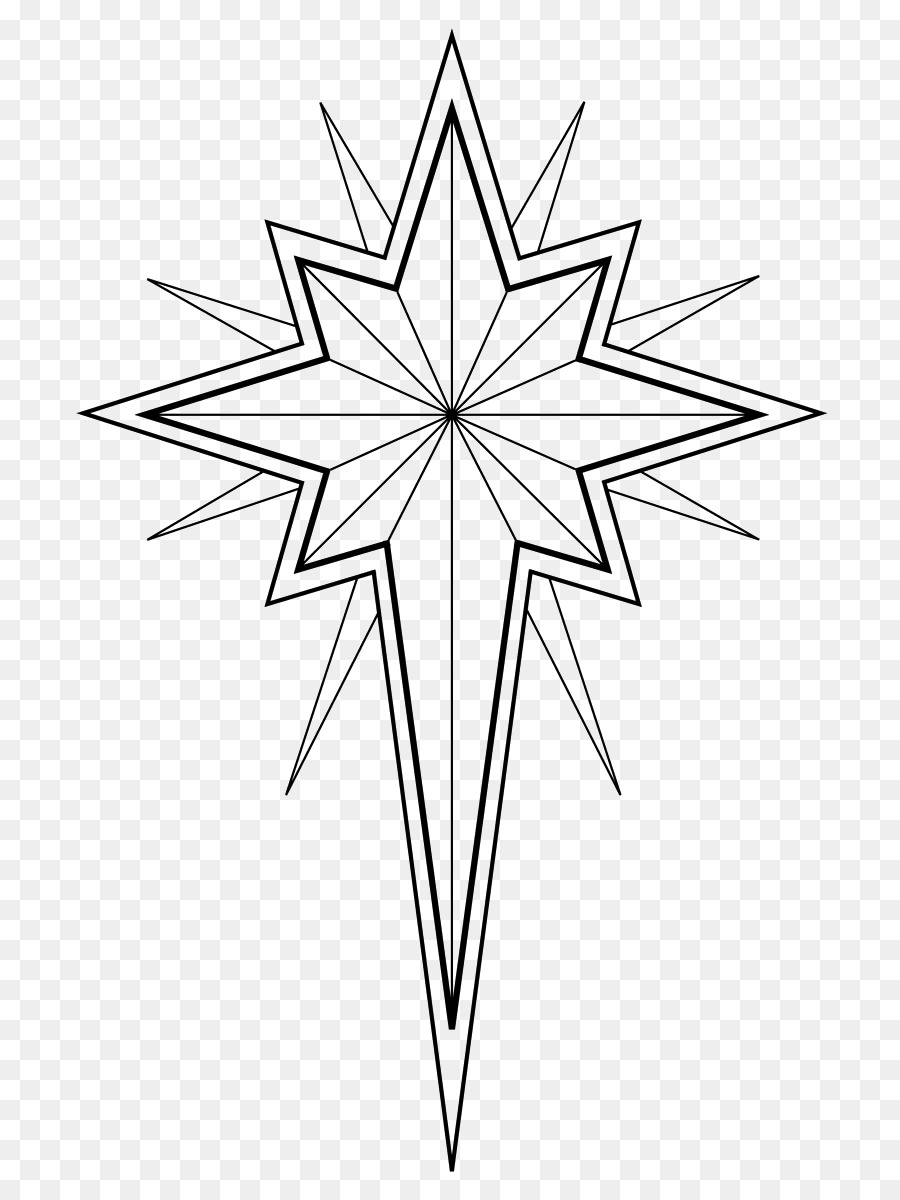 Colouring Pages Coloring book Star of Bethlehem Christmas Day ...