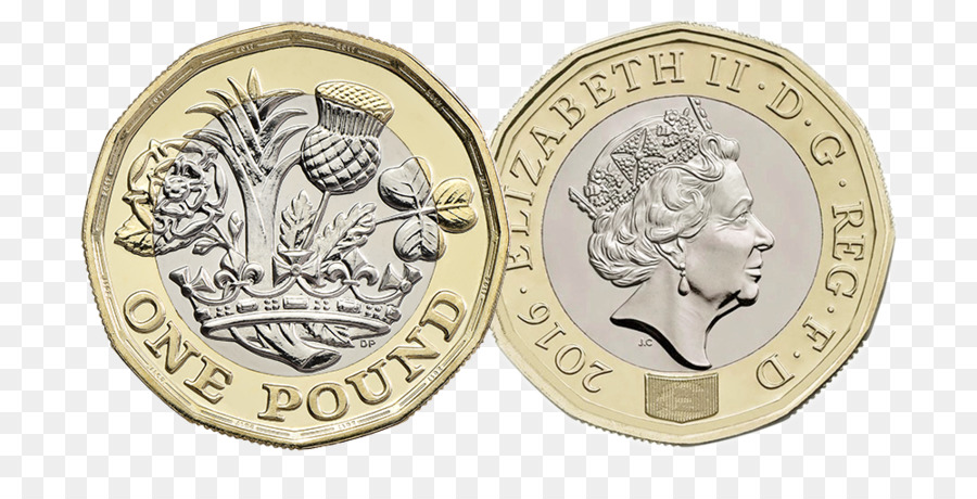United Kingdom One Pound Coin Currency Money Png 1000 500 Free Transpa