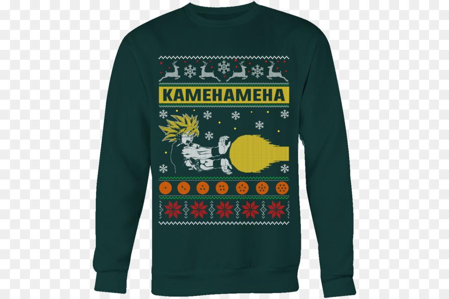 T-shirt Goku Christmas jumper Sweater Dragon Ball - ugly sweater png ...