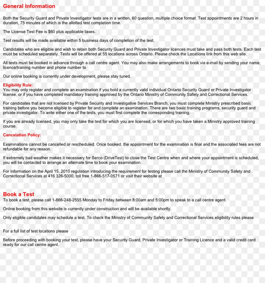 La Prueba del documento de Seguridad guardia de Curriculum vitae ...