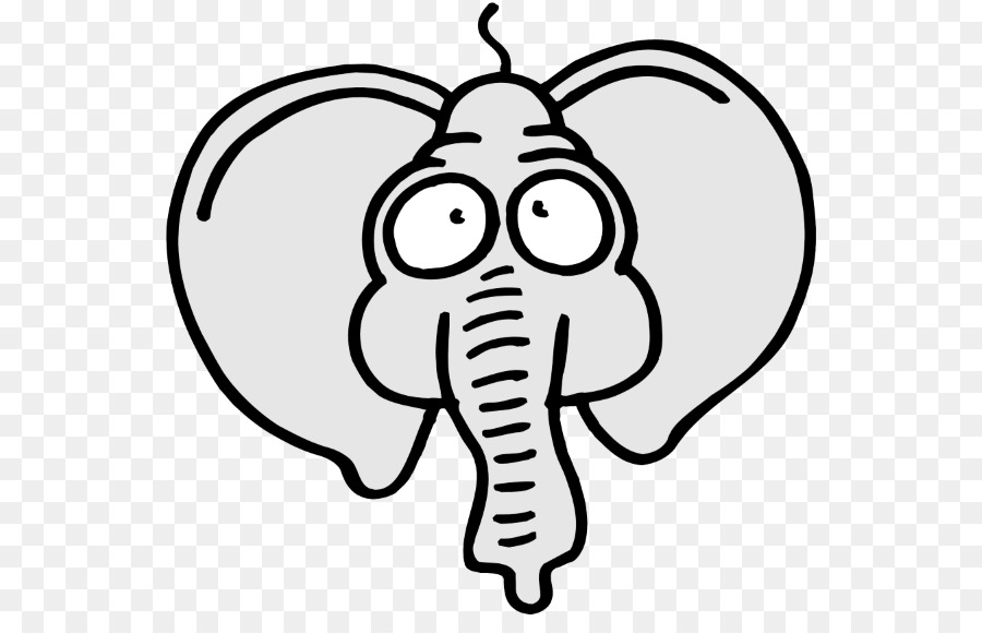 Elephants Coloring Book Clip Art Image Child