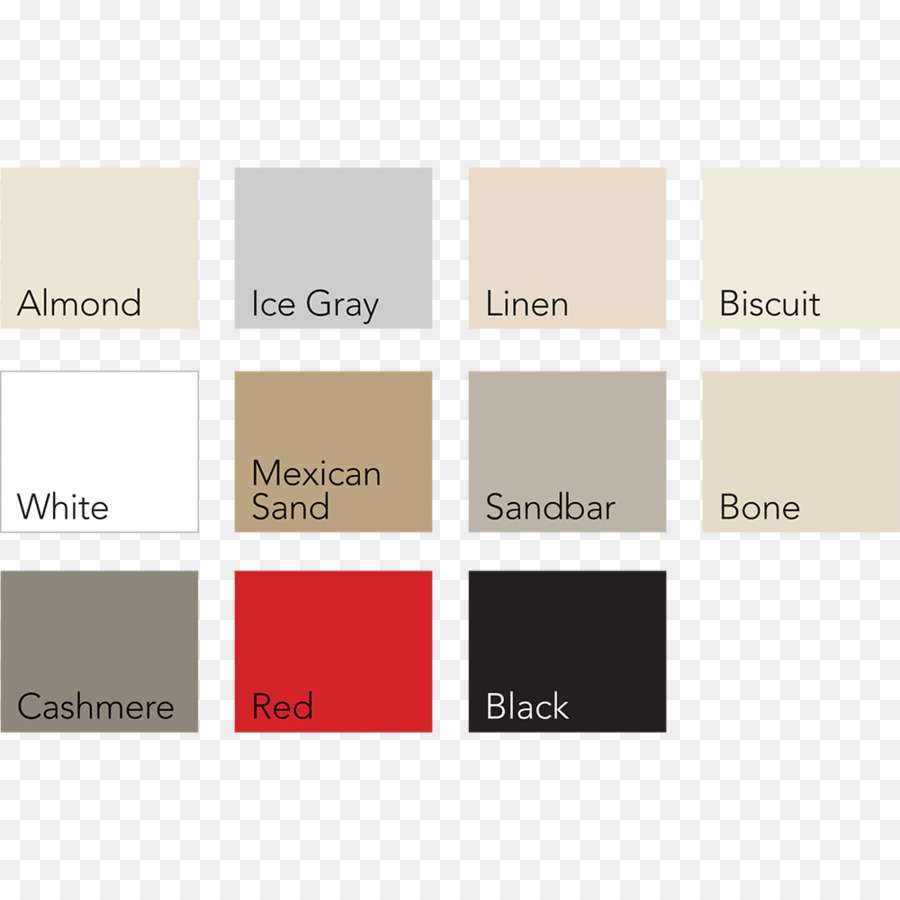 Color Chart Bone Color Tub Almond Colored Squares Png Download