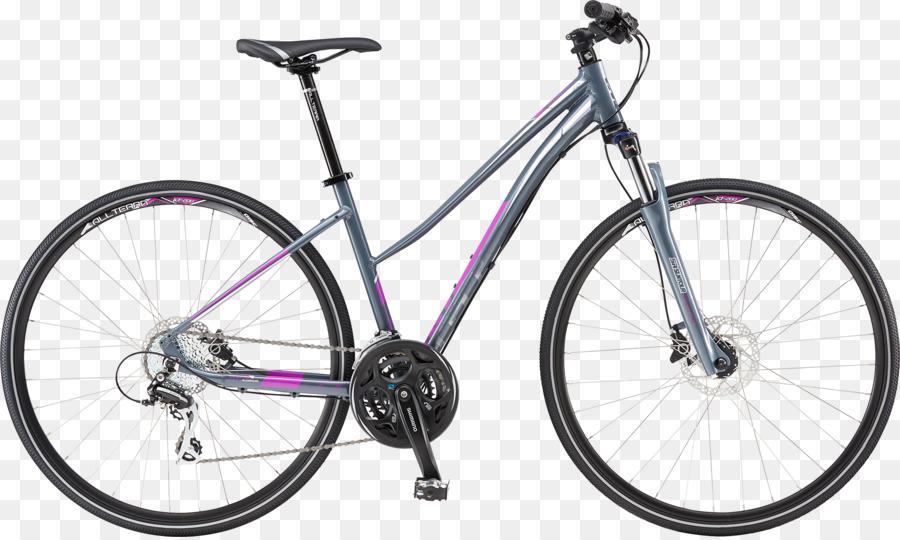 GT Bicycles bicicleta Híbrida de Paso a través del marco de los ...