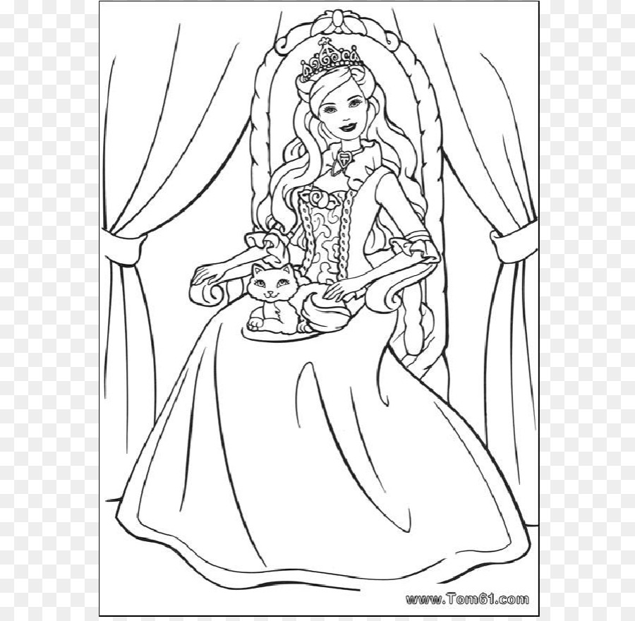 Barbie Disney Princess Coloring book Child - barbie png download ...